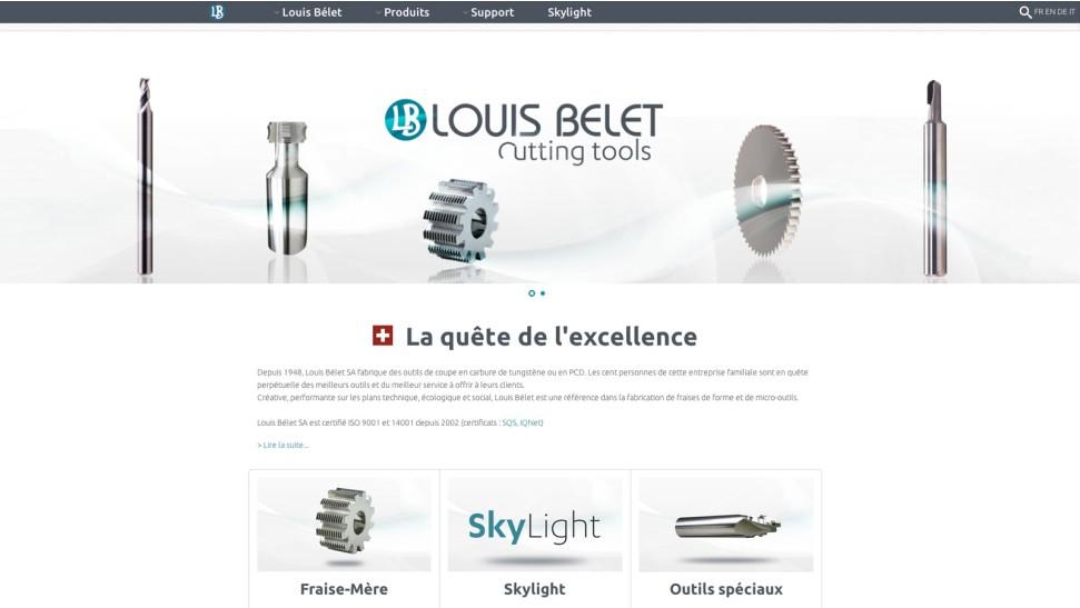 Site internet louis belet sa nopixel communication for B architecture delemont