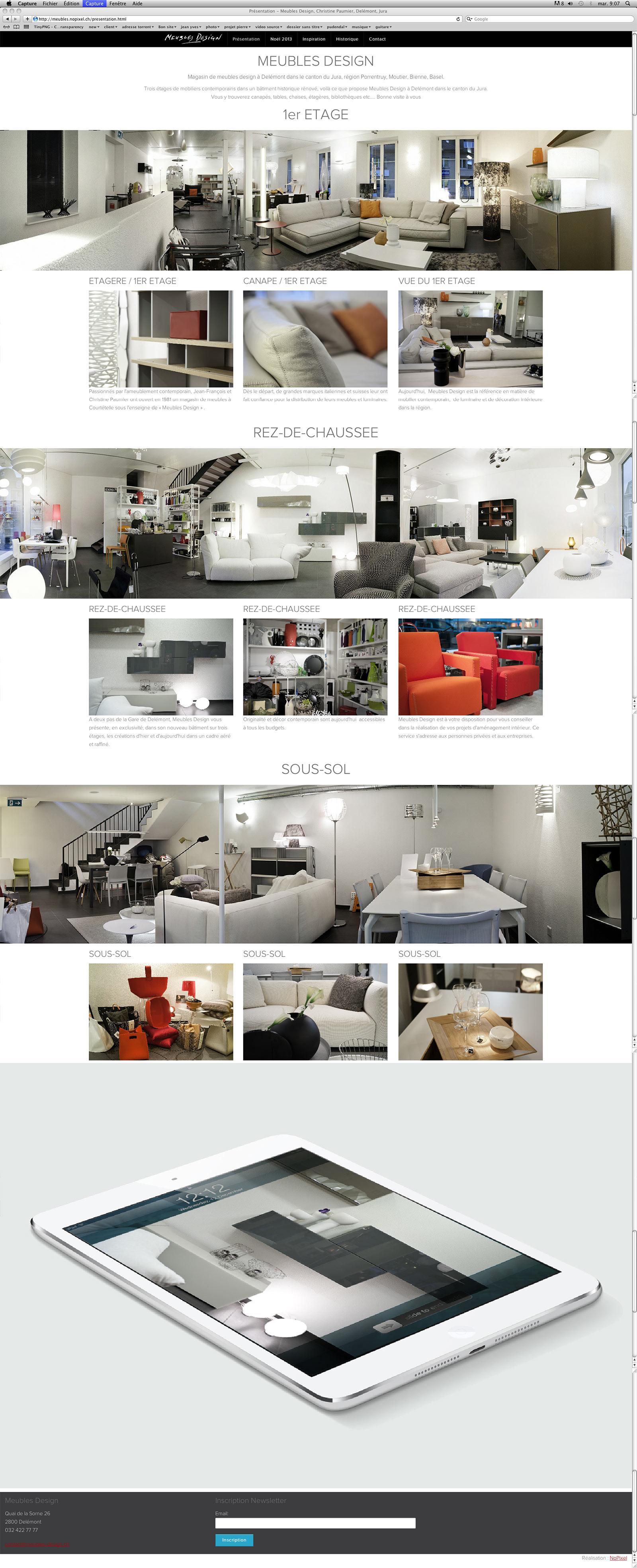 Meubles design nopixel communication visuelle for Site meuble design